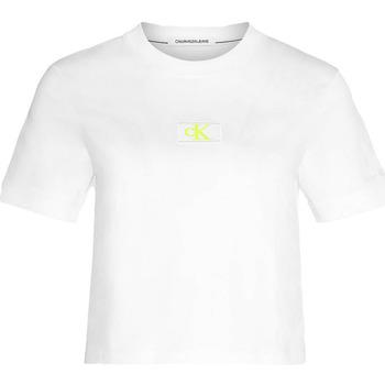 Υφασμάτινα Γυναίκα T-shirts & Μπλούζες Calvin Klein Jeans J20J214148 λευκό