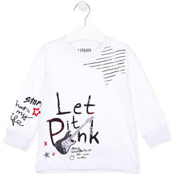 Υφασμάτινα Παιδί T-shirts & Μπλούζες Losan 025-1000AL λευκό