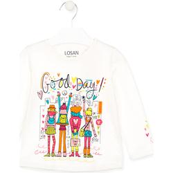 Υφασμάτινα Παιδί T-shirts & Μπλούζες Losan 026-1003AL λευκό