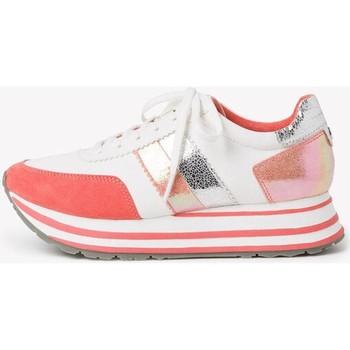 Xαμηλά Sneakers Tamaris White Orange Flat Shoes