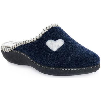 Παπούτσια Γυναίκα Παντόφλες Emanuela 1800 BLU PANTOFOLA Blu