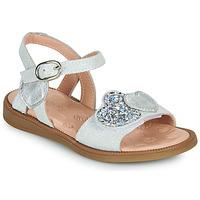 Παπούτσια Κορίτσι Σανδάλια / Πέδιλα Acebo's 5500SU-BLANCO Άσπρο / Silver