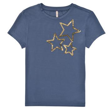 Υφασμάτινα Κορίτσι T-shirt με κοντά μανίκια Only KONMOULINS STAR Μπλέ