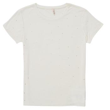 Υφασμάτινα Κορίτσι T-shirt με κοντά μανίκια Only KONMOULINS Άσπρο