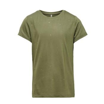 Υφασμάτινα Κορίτσι T-shirt με κοντά μανίκια Only KONMOULINS Kaki