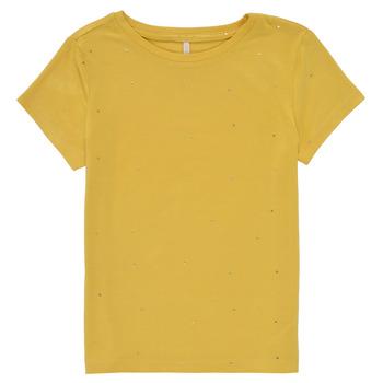 Υφασμάτινα Κορίτσι T-shirt με κοντά μανίκια Only KONMOULINS Yellow