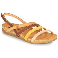 Παπούτσια Γυναίκα Σανδάλια / Πέδιλα El Naturalista ZUMAIA Brown / Yellow / Ροζ