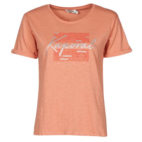 Υφασμάτινα Γυναίκα T-shirt με κοντά μανίκια Kaporal PUZZU Ροζ