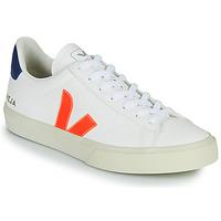 Παπούτσια Χαμηλά Sneakers Veja CAMPO Άσπρο / Orange / Μπλέ