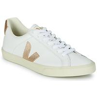 Παπούτσια Γυναίκα Χαμηλά Sneakers Veja ESPLAR LOGO Άσπρο / Gold
