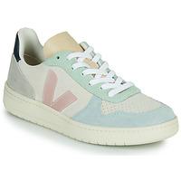 Παπούτσια Γυναίκα Χαμηλά Sneakers Veja V-10 Άσπρο / Μπλέ