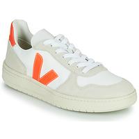 Παπούτσια Χαμηλά Sneakers Veja V-10 Άσπρο / Orange