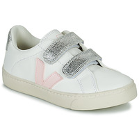 Παπούτσια Κορίτσι Χαμηλά Sneakers Veja SMALL ESPLAR VELCRO Άσπρο / Gold
