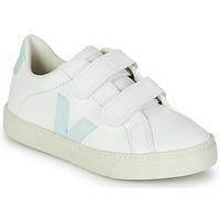 Παπούτσια Κορίτσι Χαμηλά Sneakers Veja SMALL ESPLAR VELCRO Άσπρο / Μπλέ / Red
