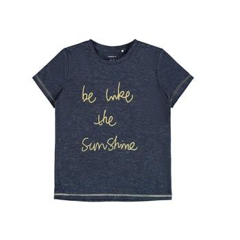 Υφασμάτινα Κορίτσι T-shirt με κοντά μανίκια Name it NKFDEVIRA Marine