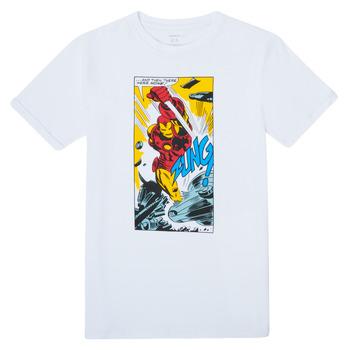 Υφασμάτινα Αγόρι T-shirt με κοντά μανίκια Name it MARVEL Άσπρο