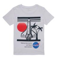 Υφασμάτινα Αγόρι T-shirt με κοντά μανίκια Name it NASA Άσπρο