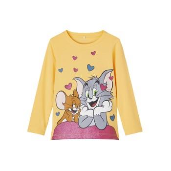 Υφασμάτινα Κορίτσι Μπλουζάκια με μακριά μανίκια Name it TOM&JERRY Yellow