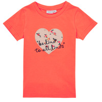 Υφασμάτινα Κορίτσι T-shirt με κοντά μανίκια Name it NMFDELFIN TOP Corail