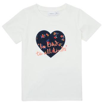 Υφασμάτινα Κορίτσι T-shirt με κοντά μανίκια Name it NMFDELFIN TOP Άσπρο