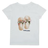Υφασμάτινα Κορίτσι T-shirt με κοντά μανίκια Name it NMFFISUMMER Άσπρο