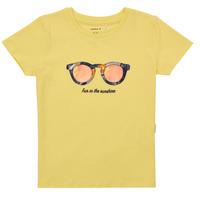 Υφασμάτινα Κορίτσι T-shirt με κοντά μανίκια Name it NMFFISUMMER Yellow