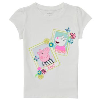 Υφασμάτινα Κορίτσι T-shirt με κοντά μανίκια Name it PEPPAPIG Άσπρο