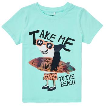Υφασμάτινα Αγόρι T-shirt με κοντά μανίκια Name it NMMFANO Μπλέ