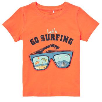 Υφασμάτινα Αγόρι T-shirt με κοντά μανίκια Name it NMMFANO Orange