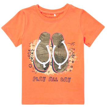 Υφασμάτινα Αγόρι T-shirt με κοντά μανίκια Name it NMMFASHO Orange