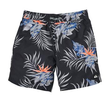 Υφασμάτινα Αγόρι Μαγιώ / shorts για την παραλία Quiksilver PARADISE EXPRESS 15 Black