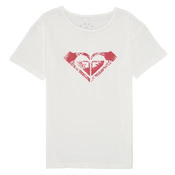 Υφασμάτινα Κορίτσι T-shirt με κοντά μανίκια Roxy DAY AND NIGHT PRINT Άσπρο