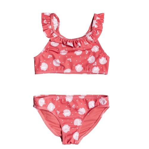 Υφασμάτινα Κορίτσι μαγιό 2 κομμάτια Roxy TEENY EVERGLOW CROP TOP SET Ροζ