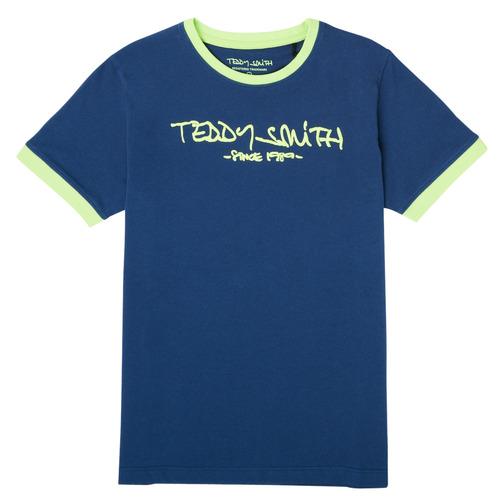Υφασμάτινα Αγόρι T-shirt με κοντά μανίκια Teddy Smith TICLASS 3 Marine