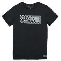 Υφασμάτινα Αγόρι T-shirt με κοντά μανίκια Teddy Smith T-VANY Black