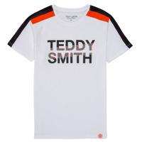 Υφασμάτινα Αγόρι T-shirt με κοντά μανίκια Teddy Smith T-MACK Άσπρο