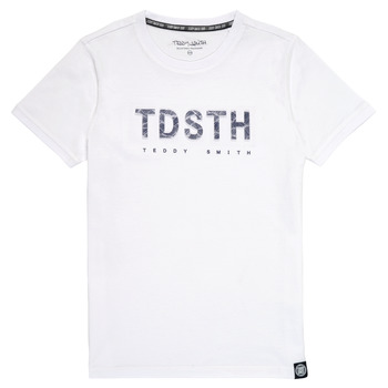 Υφασμάτινα Αγόρι T-shirt με κοντά μανίκια Teddy Smith T-MAX Άσπρο