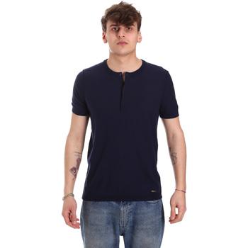 Υφασμάτινα Άνδρας T-shirt με κοντά μανίκια Gaudi 011BU53007 Μπλε