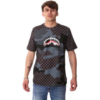 Υφασμάτινα Άνδρας T-shirt με κοντά μανίκια Sprayground SP01820BLA Μαύρος