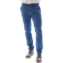 Υφασμάτινα Άνδρας Παντελόνια Chino/Carrot Sei3sei 6DAYTONA E1649 Μπλε