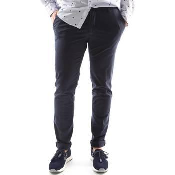 Υφασμάτινα Άνδρας Παντελόνια Chino/Carrot Sei3sei 6OYSTER E1669 Μπλε
