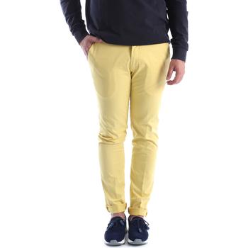 Υφασμάτινα Άνδρας Παντελόνια Chino/Carrot Sei3sei 6OYSTER E1648 Κίτρινος