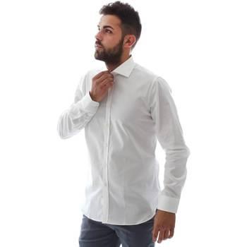 Υφασμάτινα Άνδρας Πουκάμισα με μακριά μανίκια Gmf EQ2 1428 951106/01 λευκό