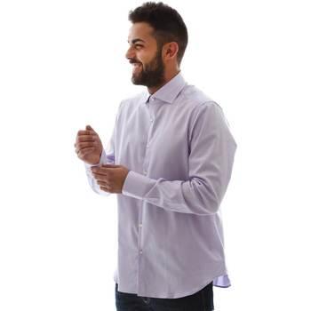 Υφασμάτινα Άνδρας Πουκάμισα με μακριά μανίκια Gmf GMF5 4728 961105/04 Ροζ