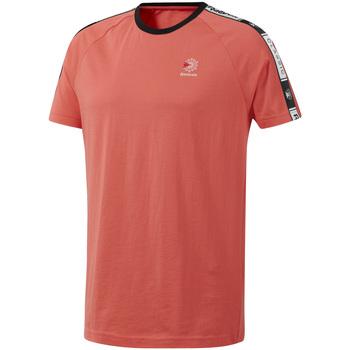 Υφασμάτινα Άνδρας T-shirt με κοντά μανίκια Reebok Sport DT8145 Ροζ