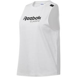 Υφασμάτινα Γυναίκα Αμάνικα / T-shirts χωρίς μανίκια Reebok Sport DT7235 λευκό