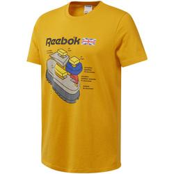 Υφασμάτινα Άνδρας T-shirt με κοντά μανίκια Reebok Sport DT8125 Κίτρινος