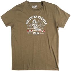 Υφασμάτινα Άνδρας T-shirt με κοντά μανίκια Key Up 2G78S 0001 Πράσινος