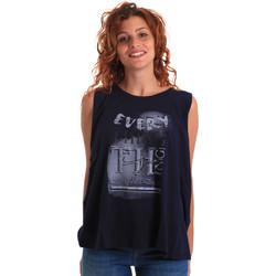 Υφασμάτινα Γυναίκα Αμάνικα / T-shirts χωρίς μανίκια Key Up 5Z14S 0001 Μπλε