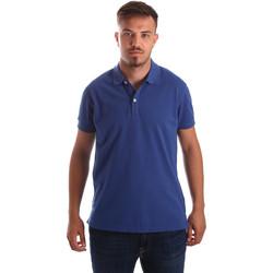 Υφασμάτινα Άνδρας Πόλο με κοντά μανίκια  Navigare NV82086 Μπλε
